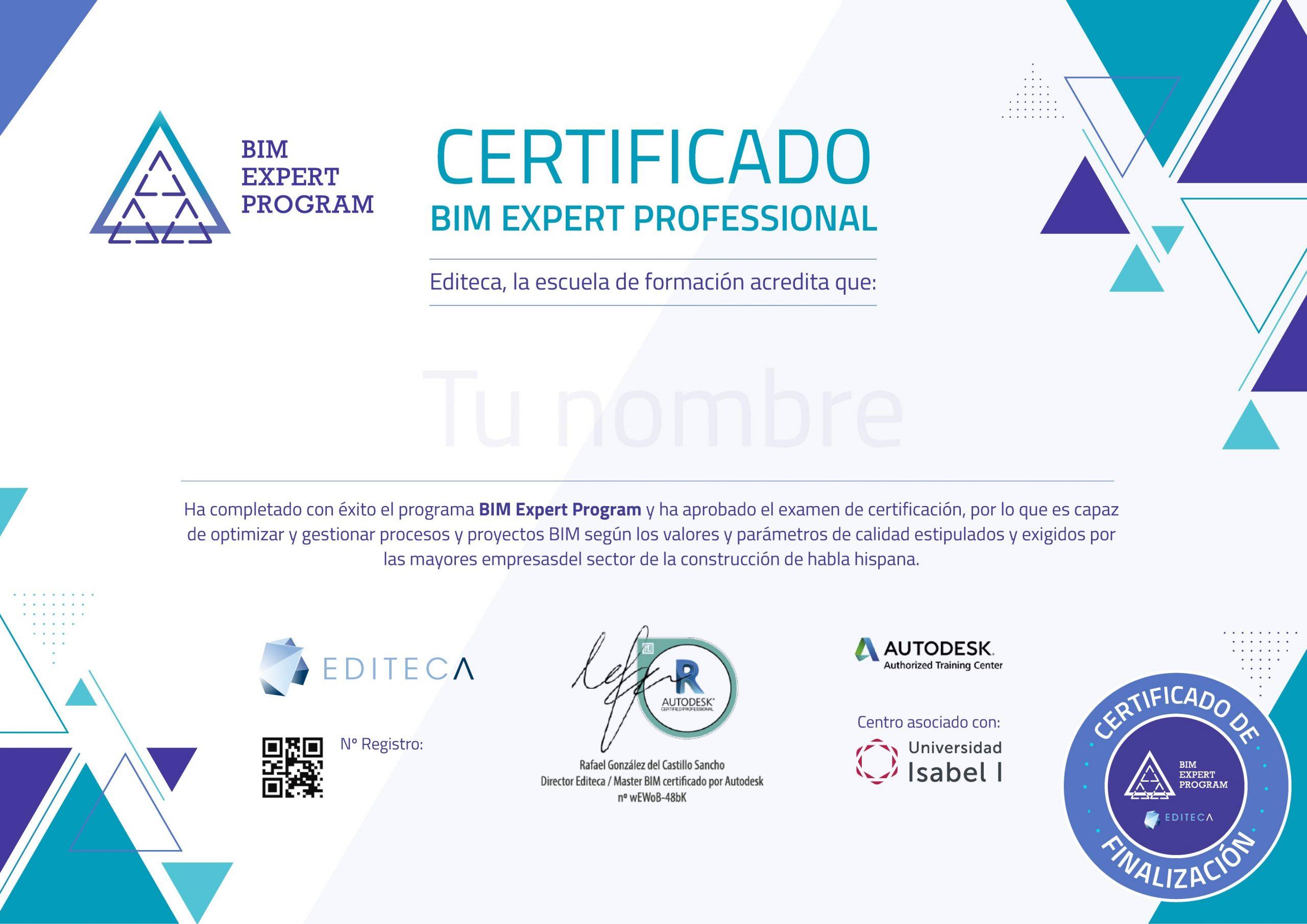 Certificado-Finalización-BIM-Expert-program